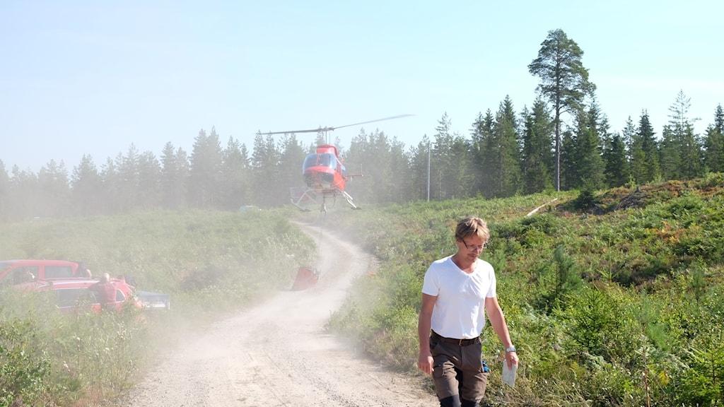 Helikopter brand kilsbergen