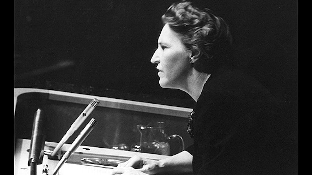 Ulla Lindström 1961. Foto: SVT bild