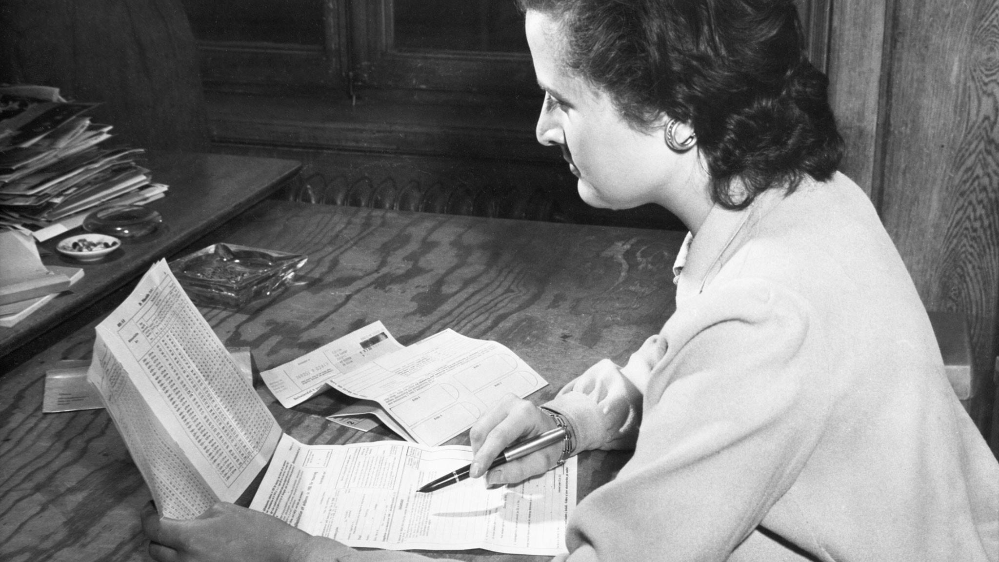 Ärliga skattebetalare  i Gränna 1945