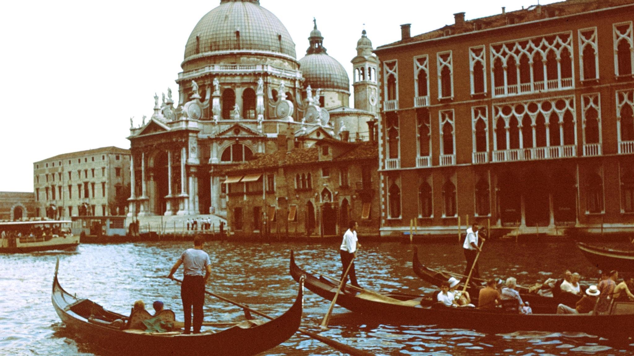 Gondolfärd i Venedig