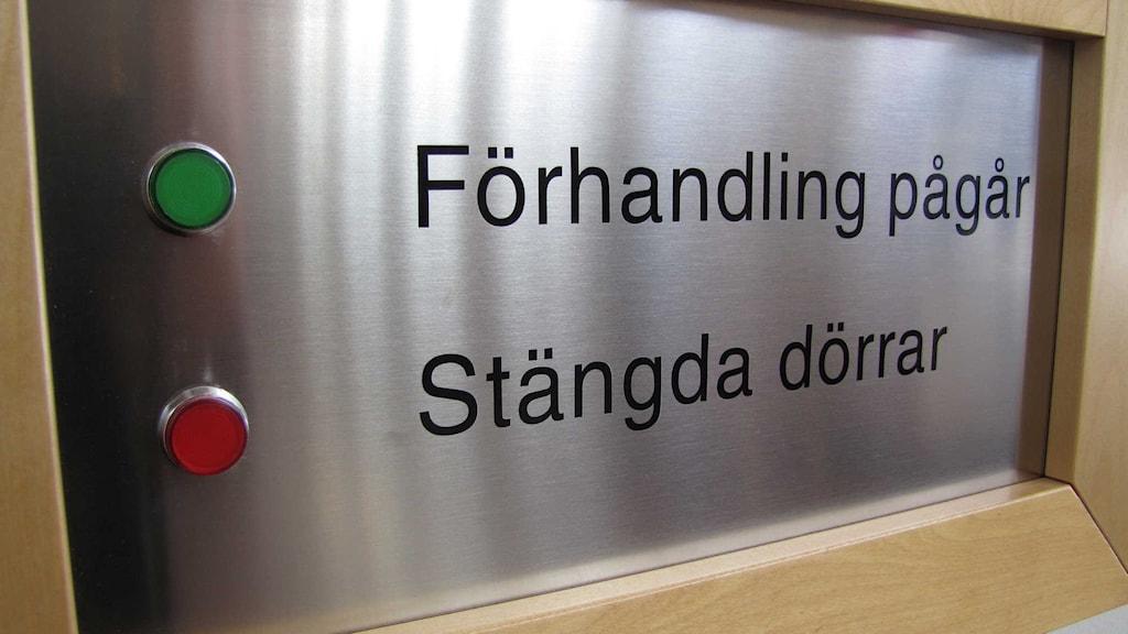 Rättegången mot mannen avslutas imorgon. Foto: Linda Zinderland / Sveriges Radio.