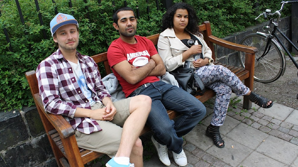 Erik Liden Dalarud, Sulejman Mohammed och Mounira Senoussi Foto: Jaqueline Balcer Bedarska.jpg