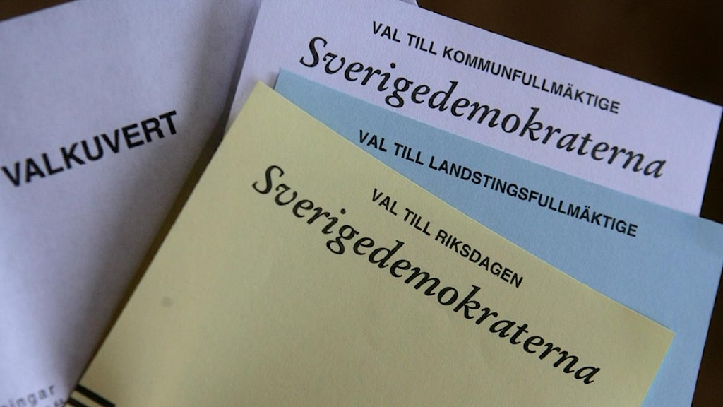 Sverigedemokraterna. Foto: Scanpix.