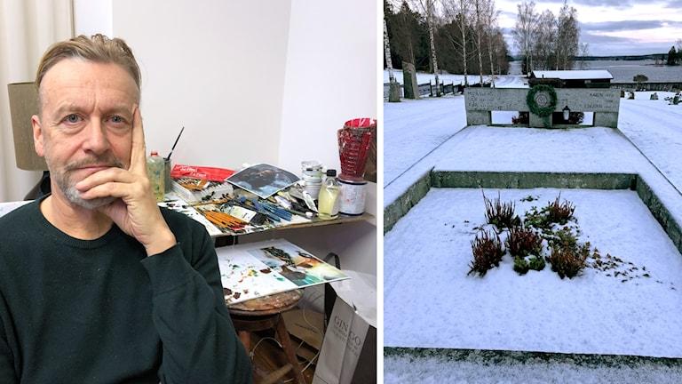 Ernst Billgren konstnär Carl Larssons grav