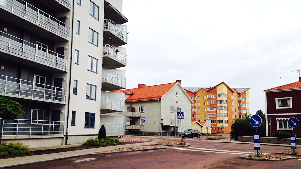 Bostadskvarter i centrala Mora.
