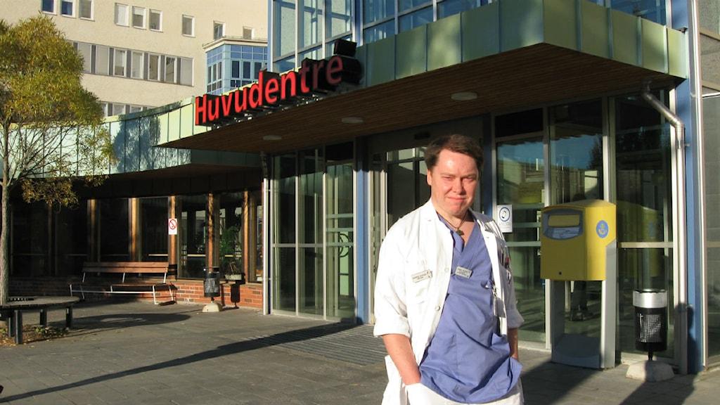 Daniel Svedin har anmält arbetsmiljön inom primärvården i Falun. Foto: Lotta Rydén