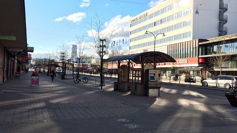 Borlänge centrum, centrala borlänge, stationsgatan
