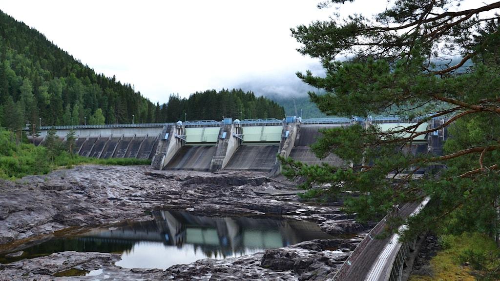 Krångede kraftverk är ett av Sveriges största vattenkraftverk. Foto: Marie Wenger/Sveriges Radio