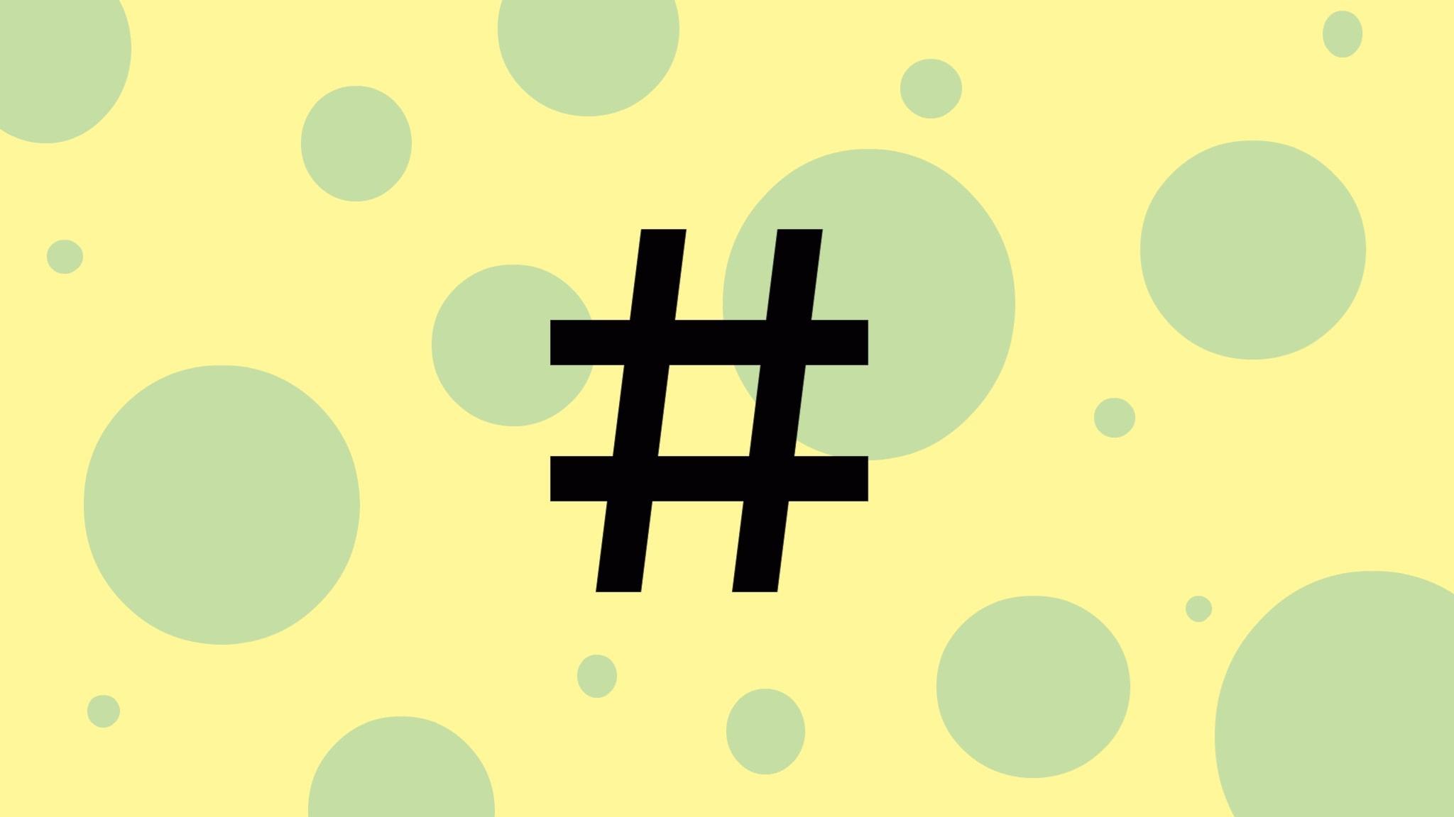 Kan en hashtag göra skillnad?