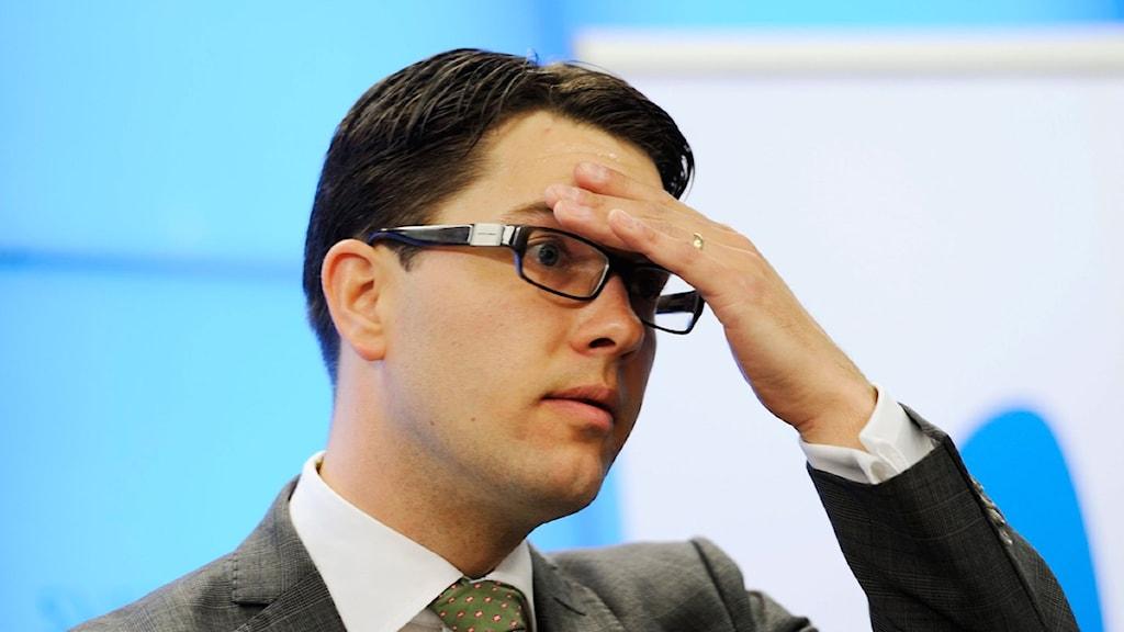 Sverigedemokraternas partiledare Jimmie Åkesson. Foto: Henrik Montgomery