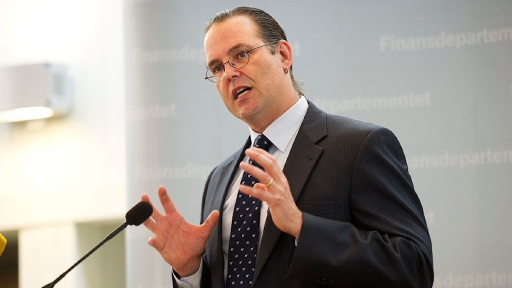 Finansminister Anders Borg presenterar årets budget. Foto: Fredrik Sandberg / Scanpix