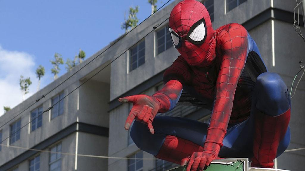 """Kanske Spiderman är förebild för """"Väktaren"""". Foto: Isaac Garrido / Scanpix"""