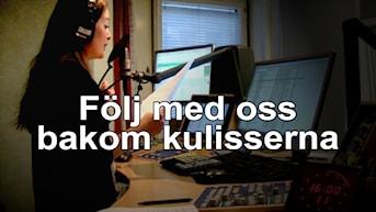 Isabell Höjman i sändning hos P3 Nyheter.
