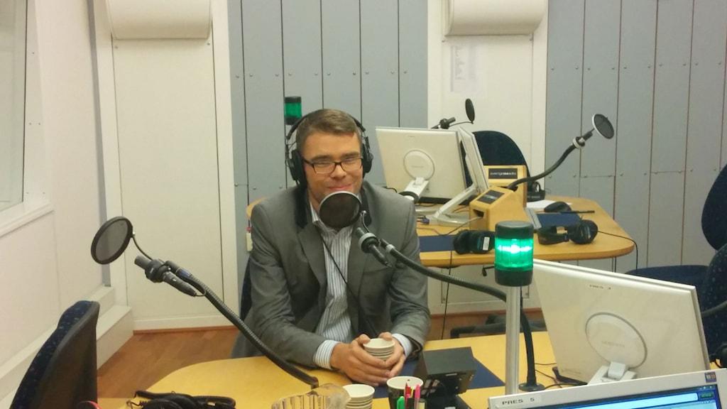 Anders Wallner (MP), partisekreterare. Foto: Karin Albons/Sveriges Radio