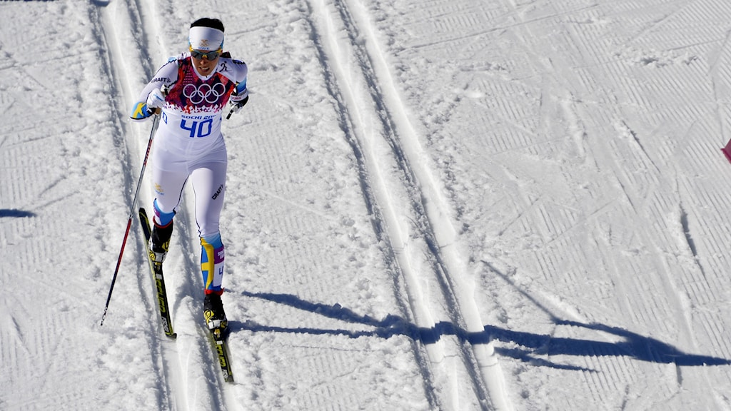 SOCHI 20140213 Sweden's Charlotte Kalla competes in the Women's Cross-Country Skiing 10km Classic at the Laura Cross-Country Center during the Sochi Winter Olympics February 13, 2014 in Rosa Khutor Foto: Tobias Röstlund / TT