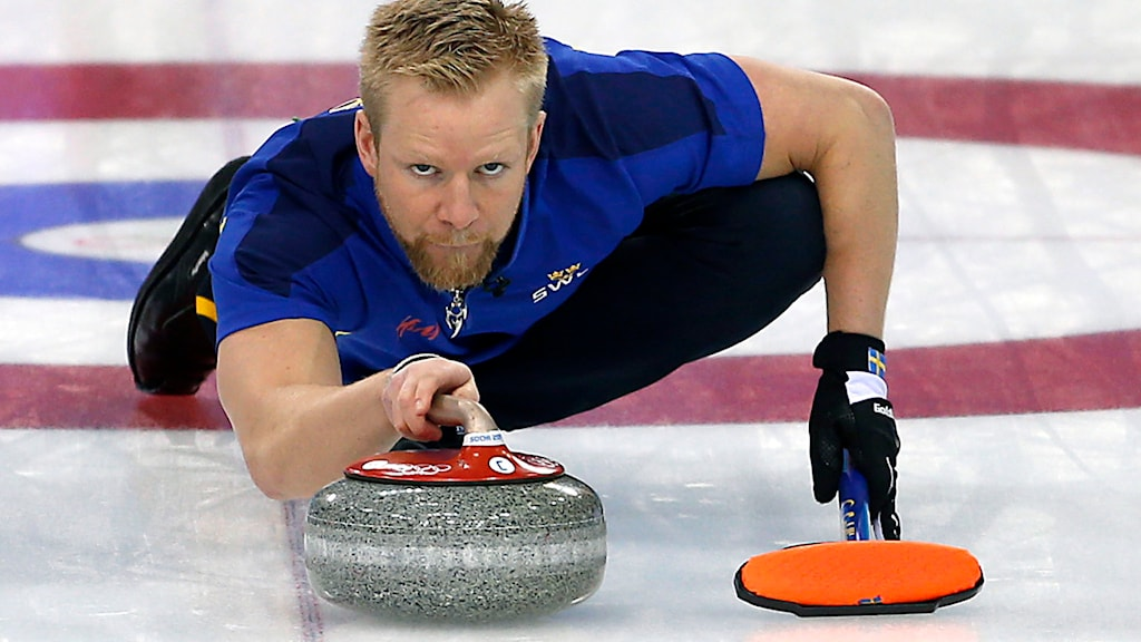 Niklas Edin, curling. Foto: AP Photo/Wong Maye-E/TT.