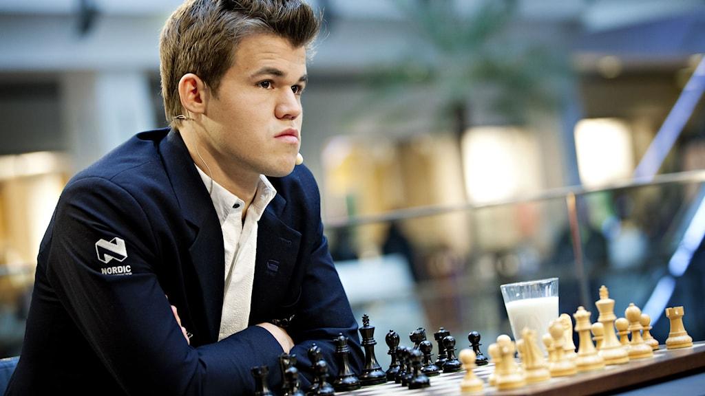 Norske schackvärldsmästaren Magnus Carlsen. Foto: Anette Karlsen /TT