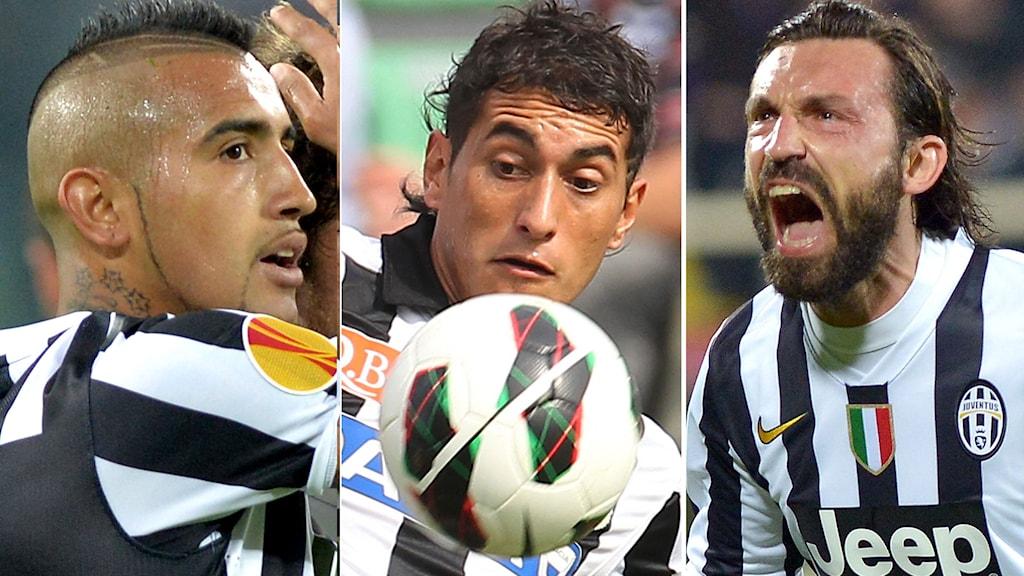 2014, Juventus trio missar matchen. Foto: TT Nyhetsbyrån