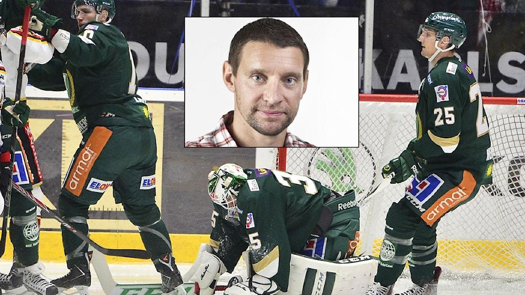 Collage Färjestad och Kristofer Ottosson. Foto: TT och SR