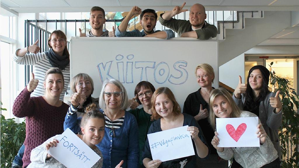#vågafinska samlade erfarenheter av många finsktalande svenskar och tävlar nu om titeln Årets Radioevenemang. Foto: Yasmine El Rafie / Sveriges Radio Sisuradio