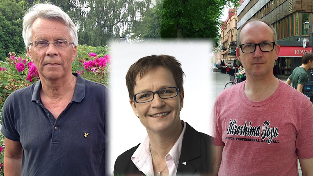 Lennart Bondeson (KD), Maria Haglund (M), Thomas Esbjörnsson (S) Foto: SR och Christer Pöhner, pressbild M