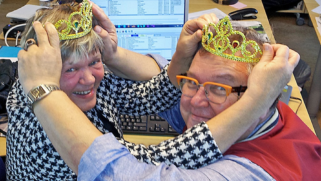 Eija ja Erpo kruunaavat toisensa, mutta Sisutarinat haluaa kuulla kenet SINÄ mielummin kruunaat! Kuva: Anna Tainio, SR Sisuradio