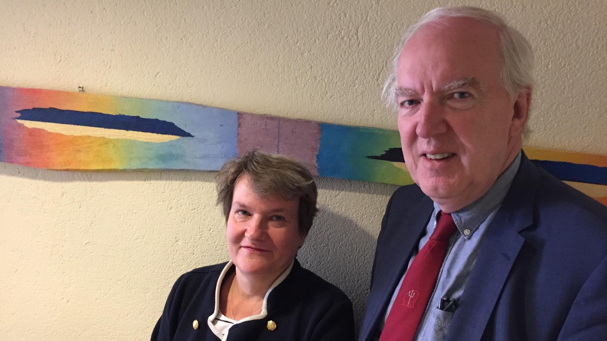 Suurlähettiläs Anders Ljunggren ja puoliso Barbro Allard Ljunggren. Foto: Pirjo Hamilton/SR