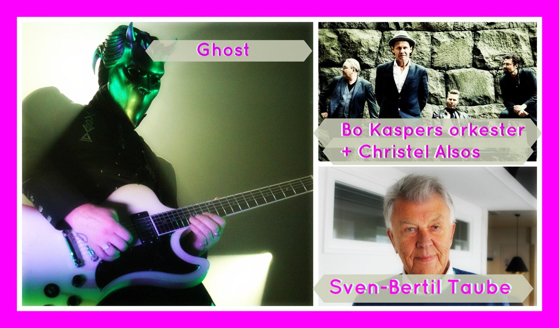 Ghost, Sven-Bertil Taube och BKO & Christel Alsos utmanar!