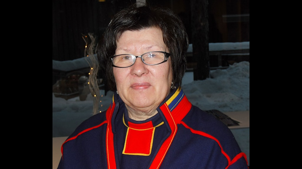 Ingrid Inga, President of the Sami Parliament. Photo: Tom Sullivan/Radio Sweden