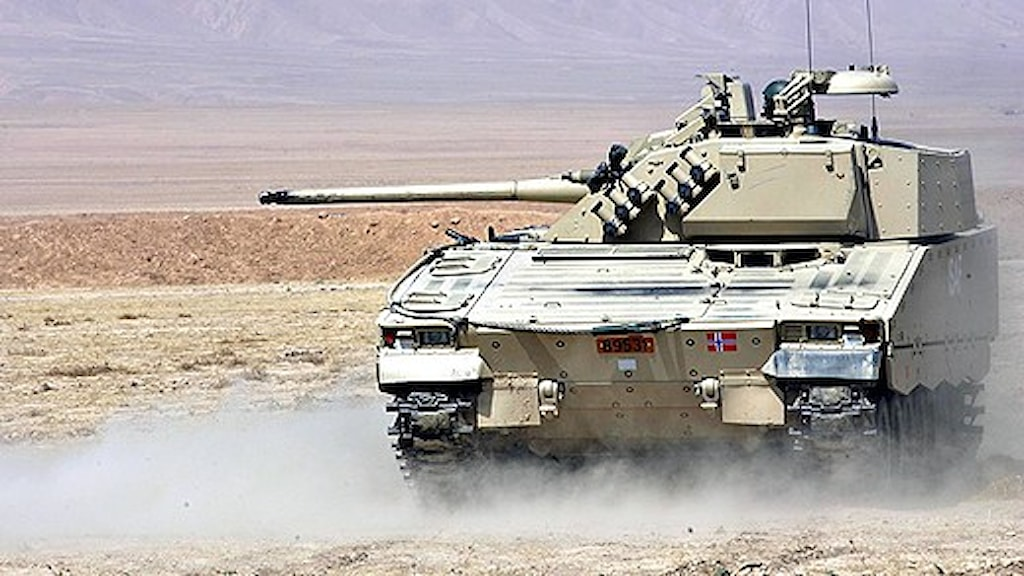 A Norwegian CV-90 being used in Afghanistan. Photo: Lars Magne Hovtun/Scanpix