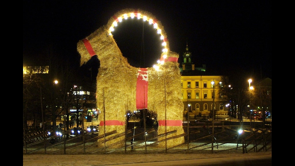 The Christmas Goat in Gävle, Photo: Anders Bardell/Scanpix
