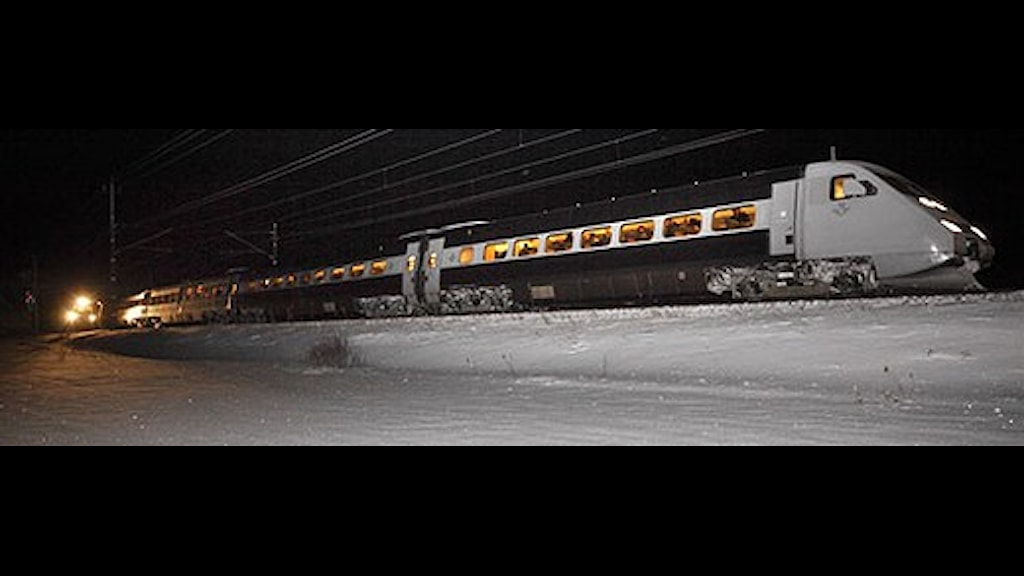 Radio Sweden. Extreme cold stopped many trains in the north of Sweden on Christmas Eve. Photo: Lasse Hejdenberg/Scanpix
