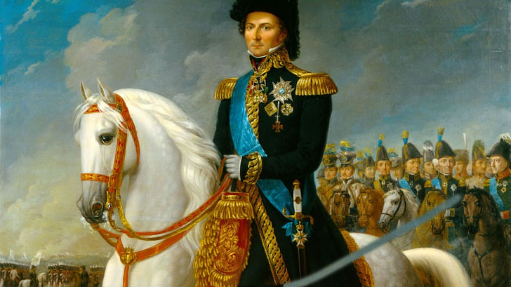 Karl XIV Johan, king of Sweden and Norway, painted by Fredric Westin. Source: Wikipedia, public domain.
