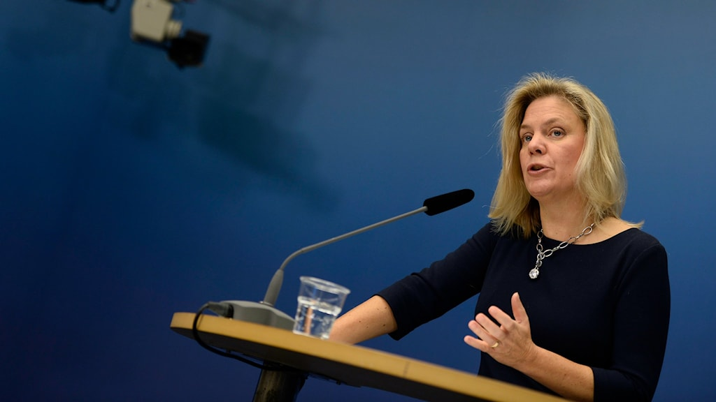 Sweden's new finance minister, Magdalena Andersson has come in for criticism today. Photo: Pontus Lundahl / TT