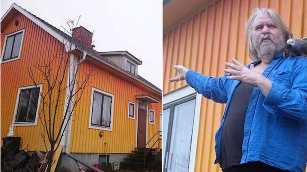 House owner Bernth Uhno in front of his yellow house. Photo: Tina Enström/SVT.