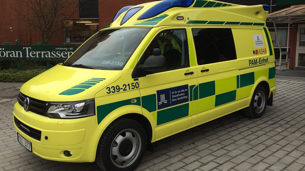 This is PAM, the new emergency vehicle for people with acute psychological problems. Photo: Kris Boswell/Sveriges Radio