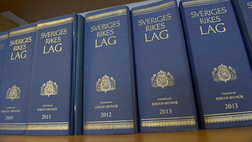 Swedish Law books. Photo: Janerik Henriksson / TT.
