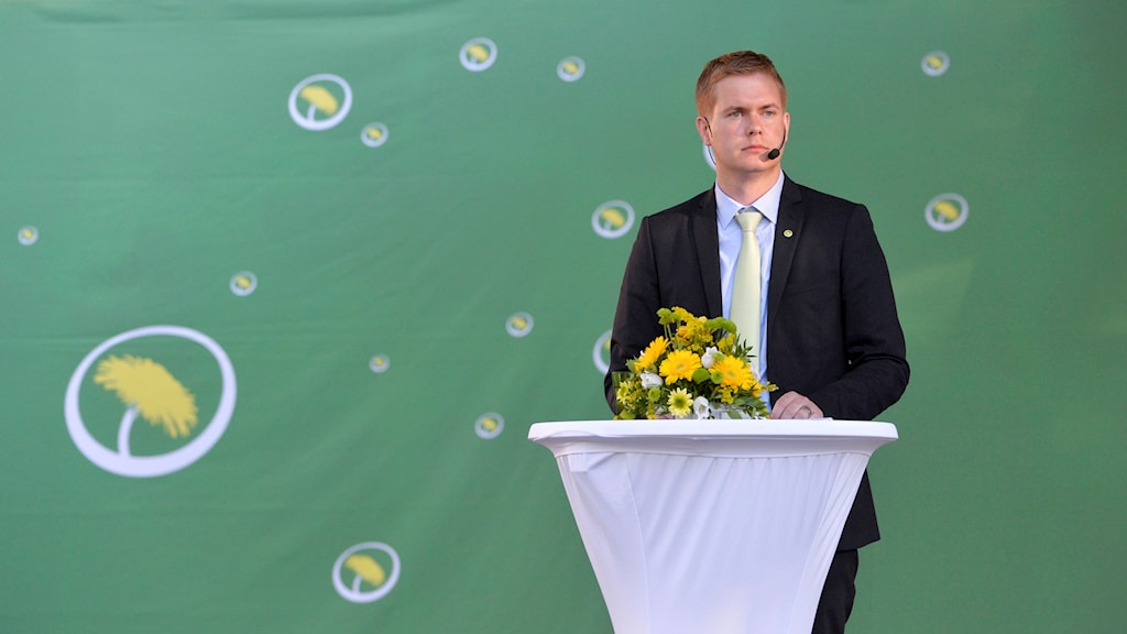 Fridolin during his speech at Almedalen 2015. Photo: Marcus Ericsson / TT.