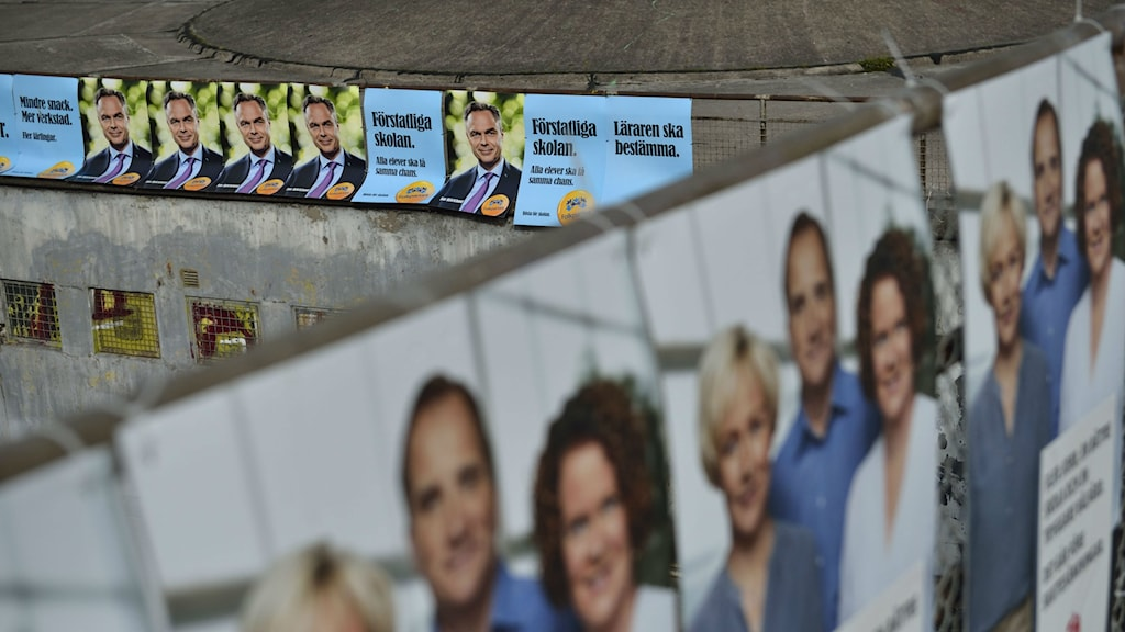 Campaign posters in Stockholm ahead of Sweden's 2014 national election. File photo: Henrik Montgomery / TT.