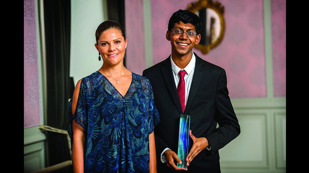 Crown Princess Victoria and the winner of the Stockholm Junior Water Prize, Perry Alagappan, 18. Photo: Jonas Berg / Creative Commons