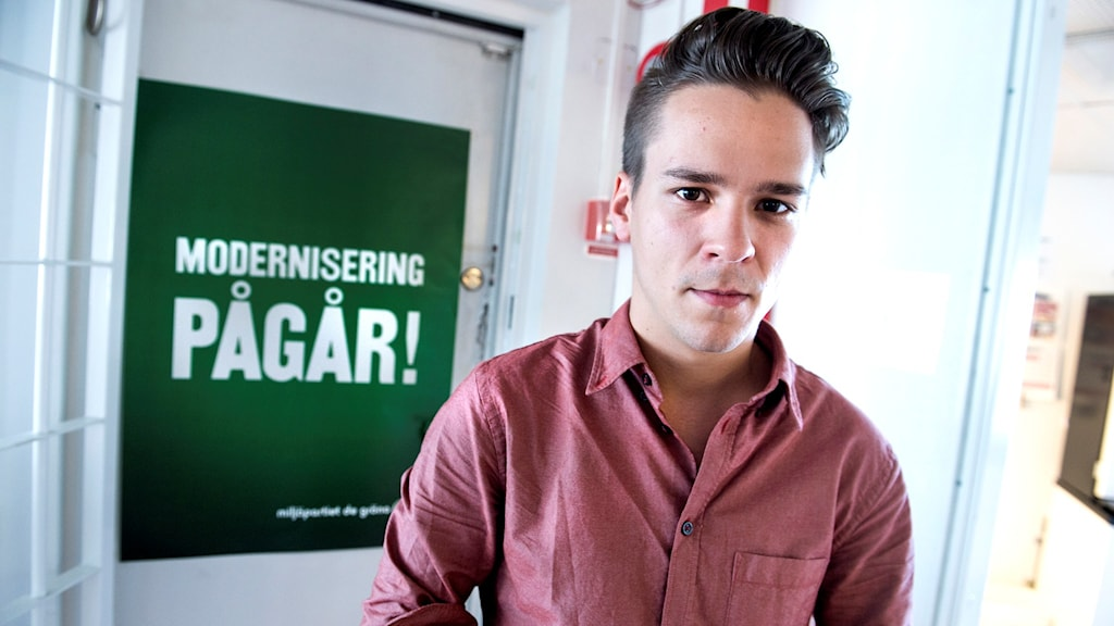 Lorentz Tovatt, spokesman for the Young Greens, has criticized the government's decision. File photo: Lars Pehrson / TT.