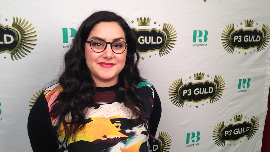 Tina Mehrafzoon is the host of this year's P3 Guld music awards. Photo: Frank Radosevich / Radio Sweden.