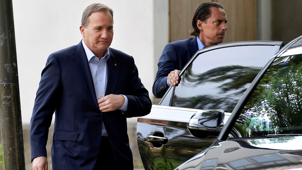 Prime Minister Stefan Löfven arriving at Almedalen, on the island of Gotland. Photo: Janerik Henriksson / TT