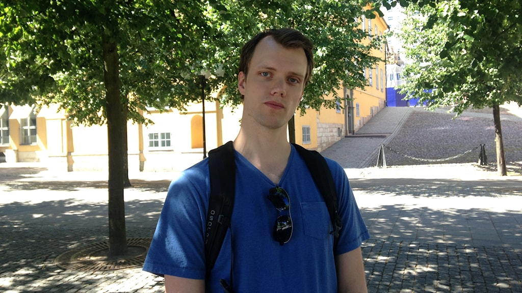 Homecare worker Daniel Söderström told Radio Sweden the social component in his work is more important than many people think. Photo: Karin Nilsson/Radio Sweden