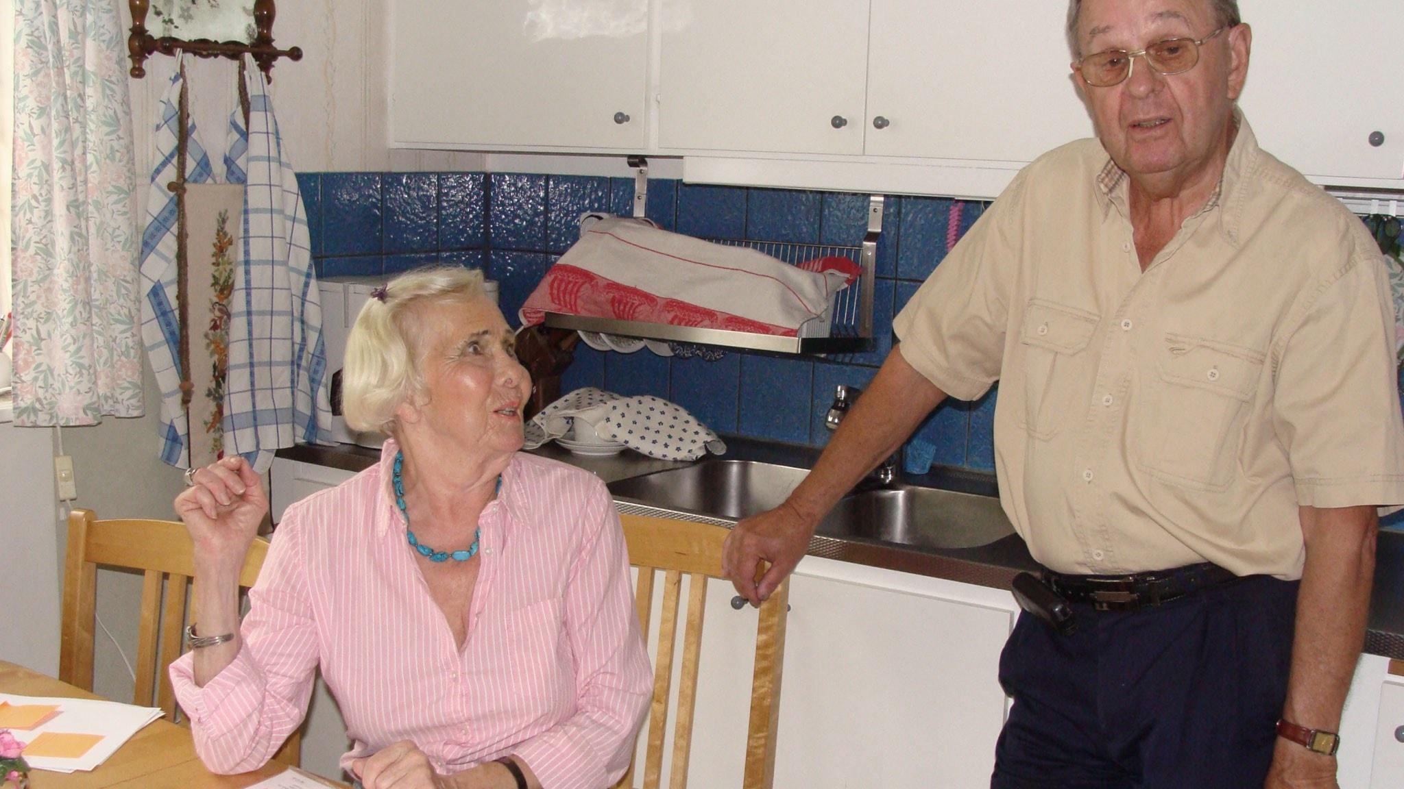 Krigets härjningar drev gränsborna Olof och Anna på flykt