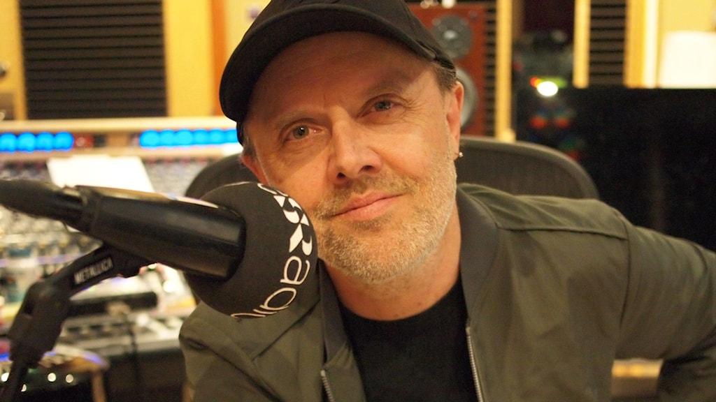 Lars Ulrich i Metallicas studio under inspelningen.