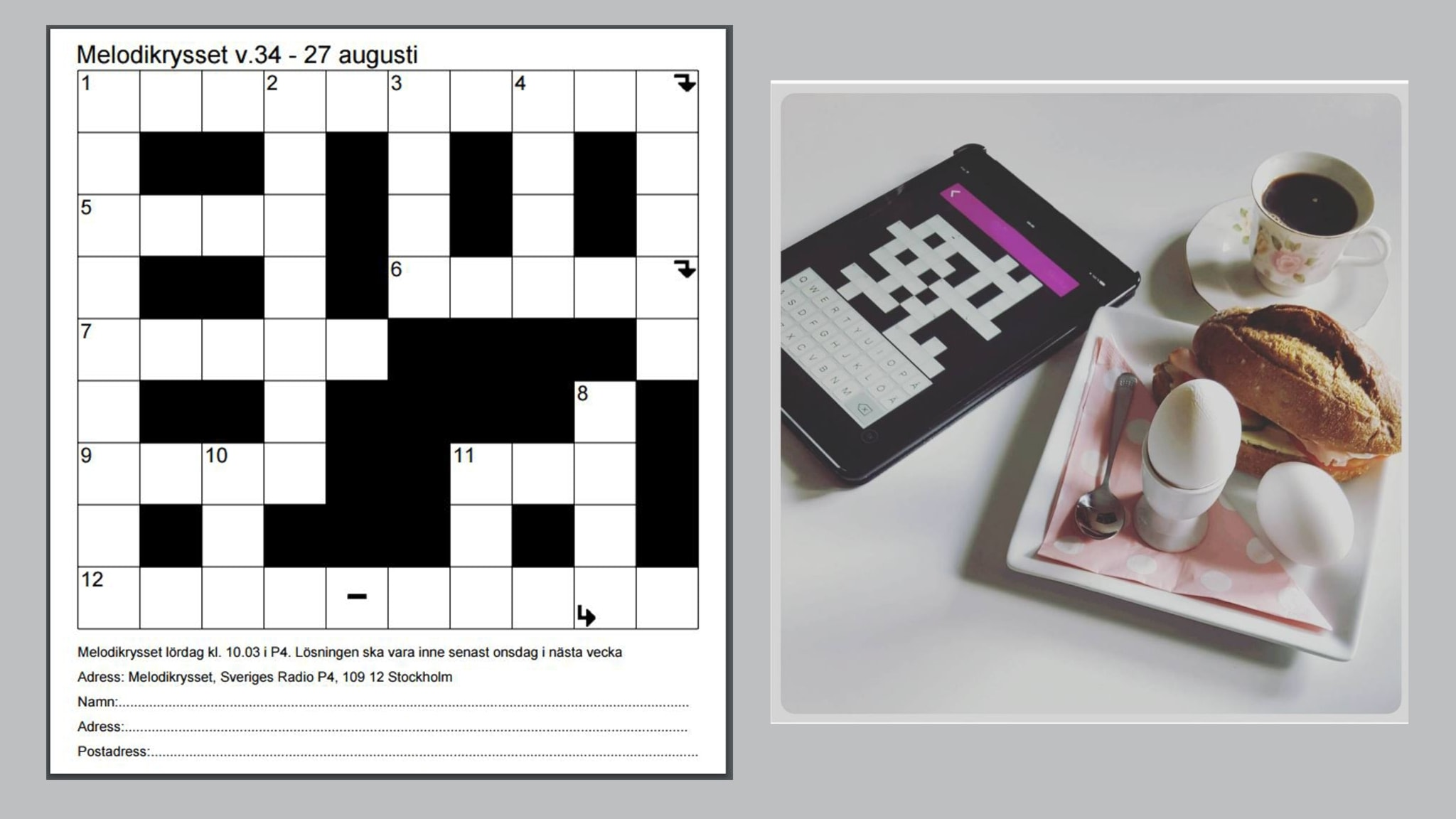 Melodikrysset vecka 34 - 27 augusti - spela