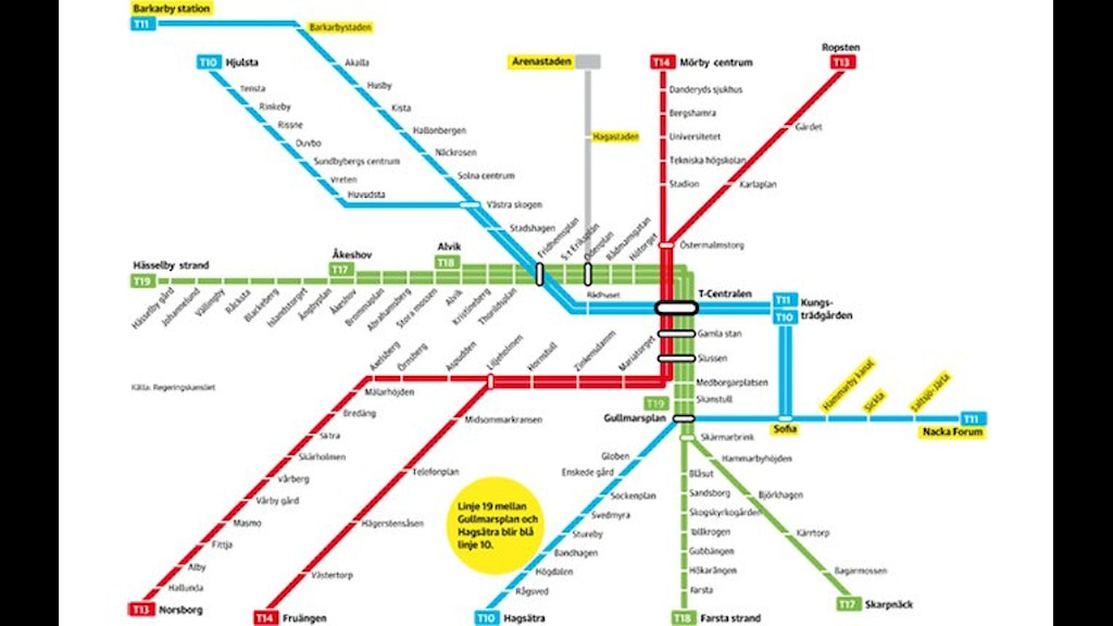 Схема стокгольмского метро с