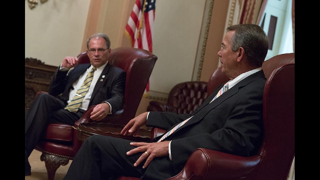 Пер Вестерберг (слева) в Конгрессе США. Справа - Джон Бейнер. Фото: SpeakerBoehner/flickr.com