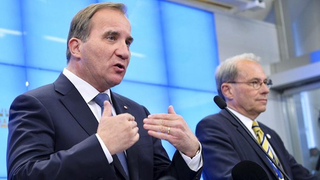 Стефан Лёвен и Пер Вестерберг (справа). Фото: ТТ